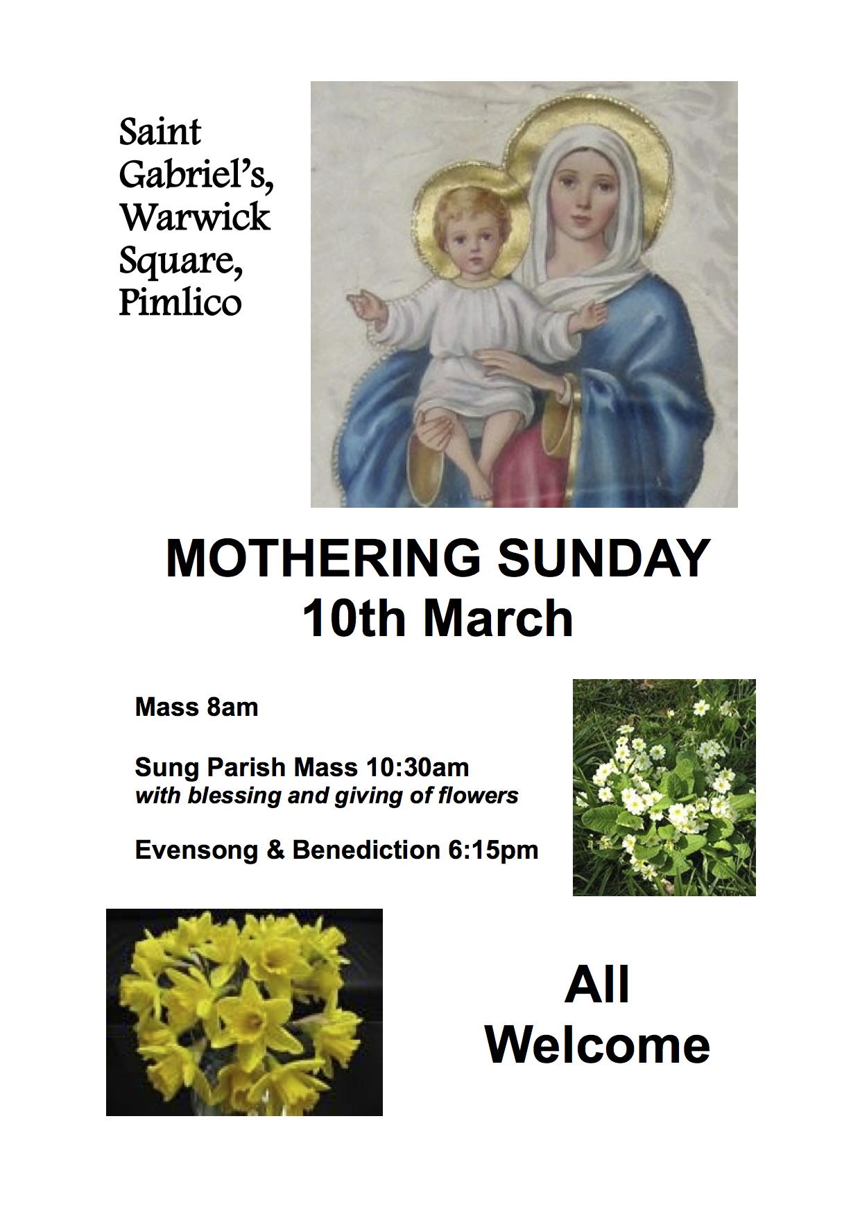 Mothering Sunday 2013 image