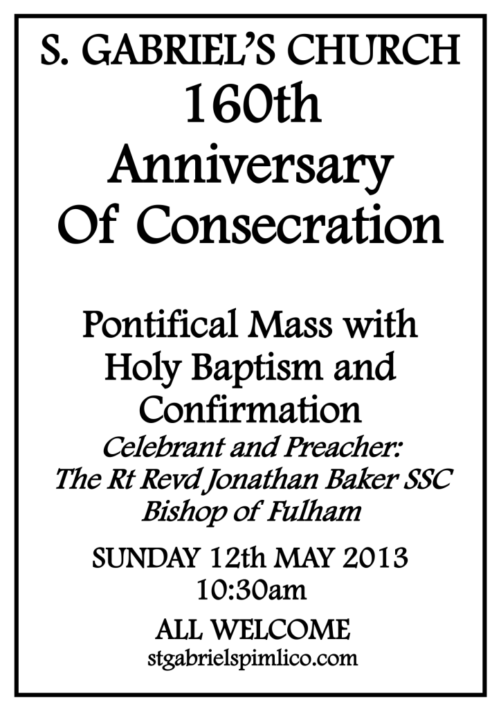 Anniversary of Consecration 2013 PNG